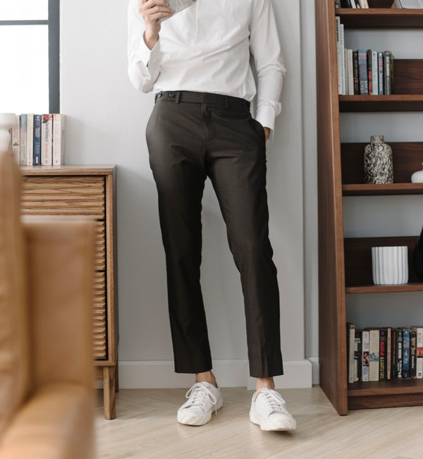 Wood - wool seersucker trousers