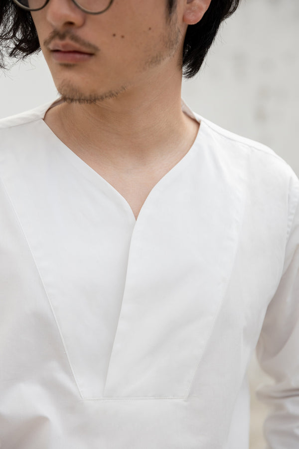 White - Mason stand collar shirt