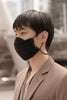 Black - liquid repellent mask with landyards