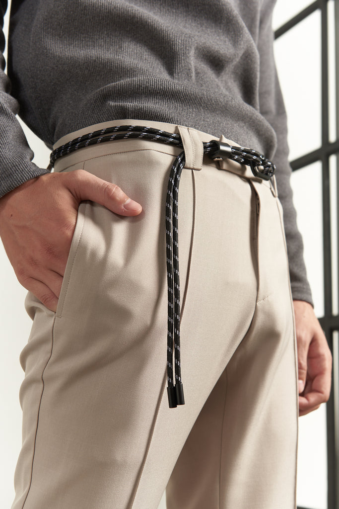 Casual two layers rope belt