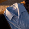 Blue - triangle polo collar shirt