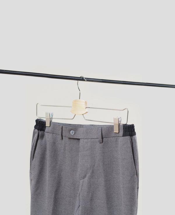 Grey trousers with side contrasting