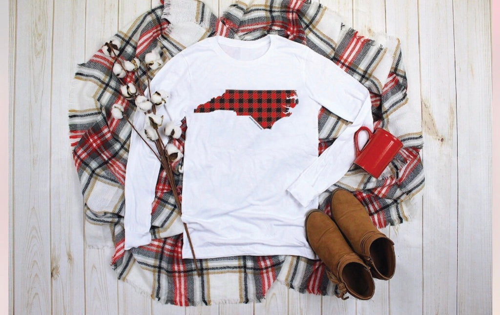 NC Buffalo Plaid Luxury Tee
