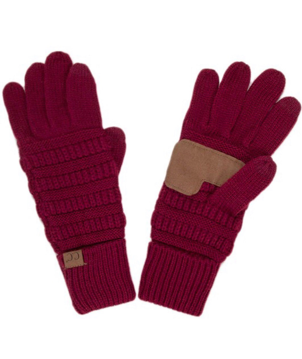 CC Knitted Touch Screen Compatible Gloves