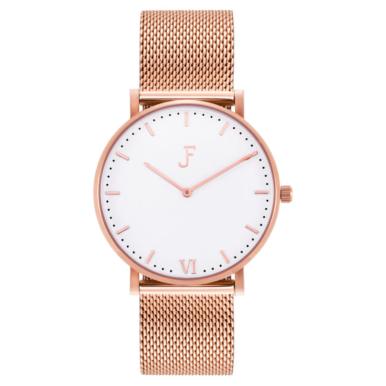 Laredo Rose Gold White Mesh
