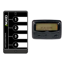 Four Button Call Unit Small & Text Pager A4