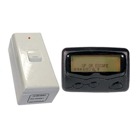 Push for Service Push Button & 1 Text Pager A4