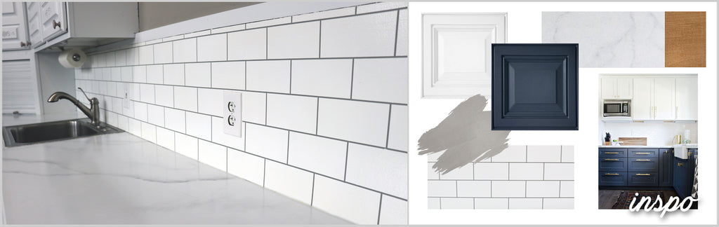 "Giani Kitchen Makeover Series: Painted ""Subway Tile"" Backsplash"