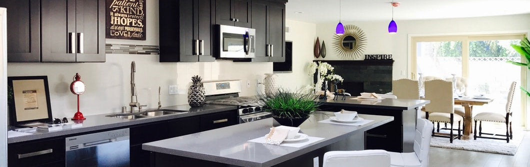 What are the latest trends in painting kitchen countertops and cabinets?
