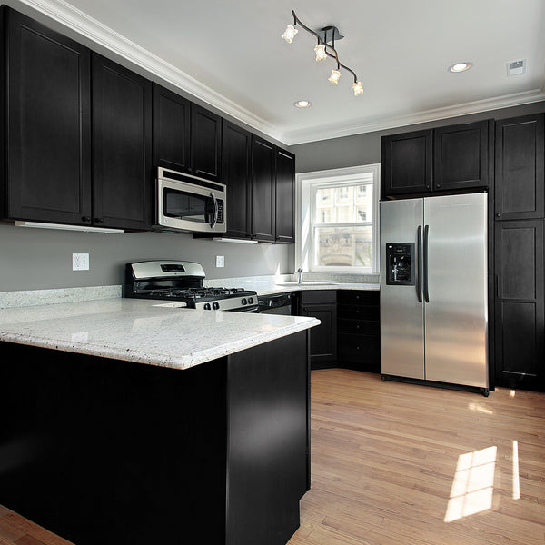 Black Painted Kitchen Cabinets: Nuvo Cabinet Paint Gallery