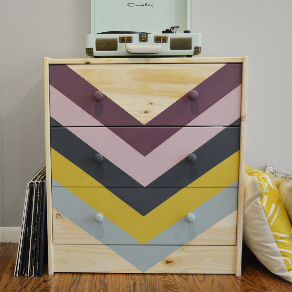 Chalkworthy Antiquing Paint dresser makeover with custom colors