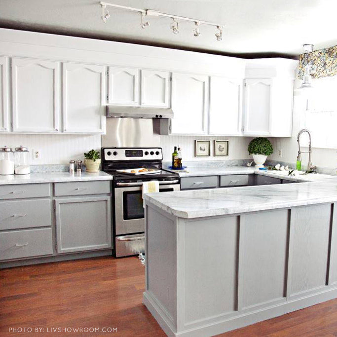 Giani White Diamond Painted Kitchen Countertops With Marble Effect