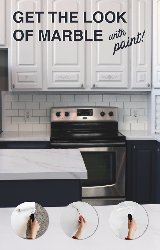 Paint your countertops to look like marble (for under $100!) Giani DIY countertop paint kits