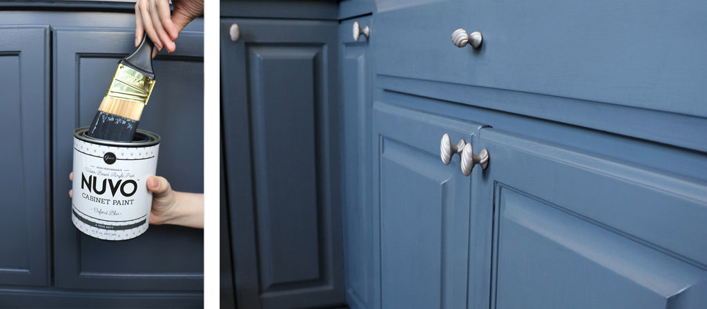 Nuvo Cabinet Paint kits make it easy to refresh your cabinets in just one weekend (sometimes just one day!) and for under $100!  What are you waiting for?!