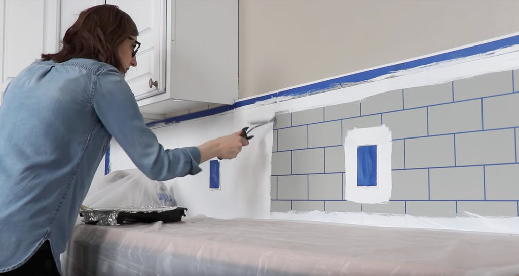 Giani Subway Tile Paint Kit - Create a faux subway tile backsplash in just a few hours! (and under $50!)