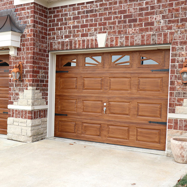 English Oak Wood Look Paint on a Three Car Garage.