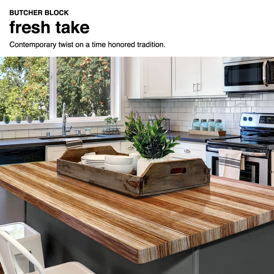 Countertops Painted with Giani Butcher Block Paint Kit