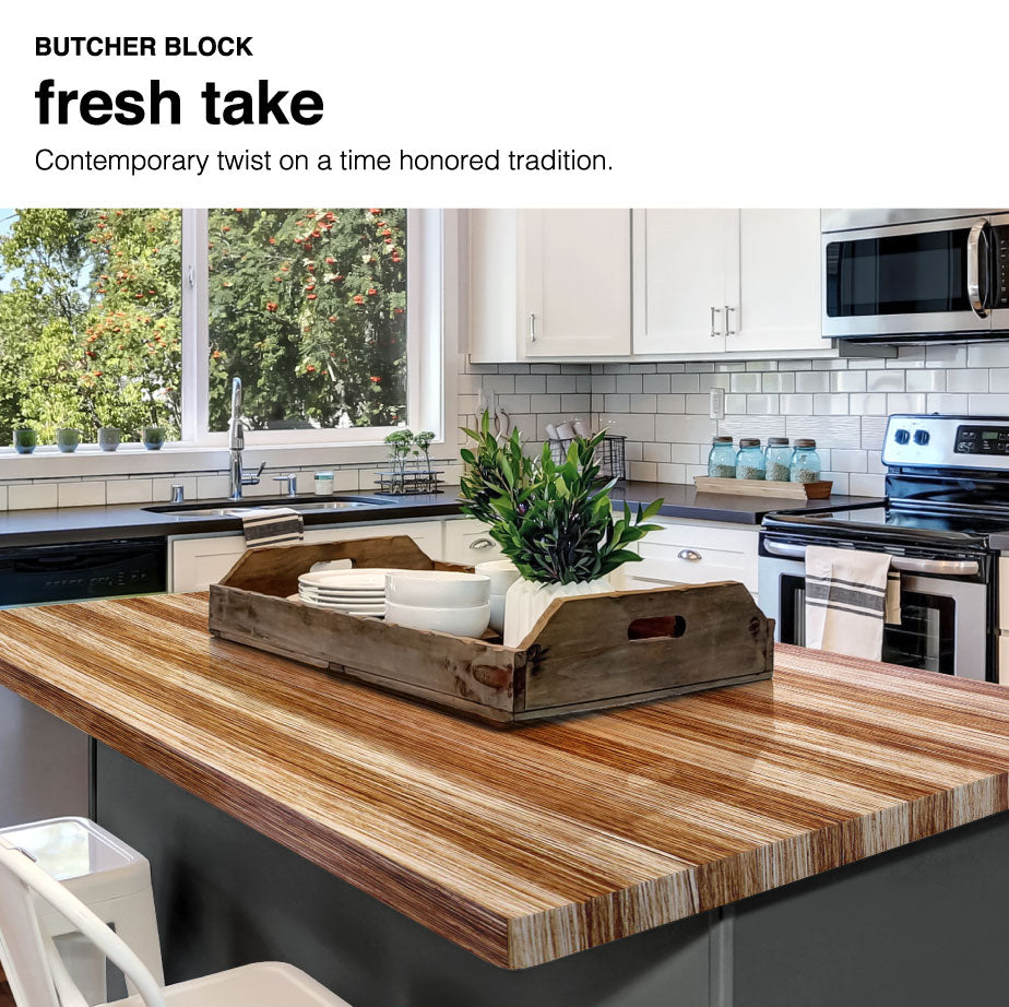 Countertops Painted with Giani Butcher Block