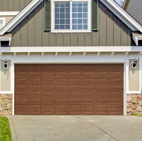 Giani English Oak Wood Look Painted Garage Door