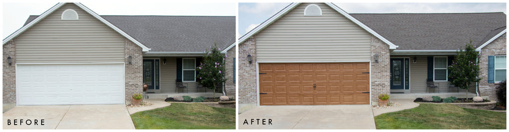 How to paint your garage door to look like wood giani inc for Wood looking garage doors