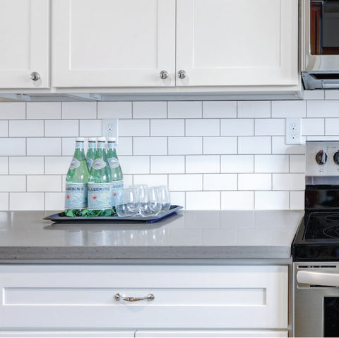Subway Tile Painted Backsplash