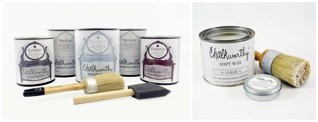 Chalkworthy Antiquing Paint colors for a beachy distressed look