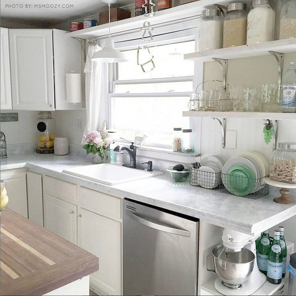 Giani White Diamond Painted Kitchen Countertops