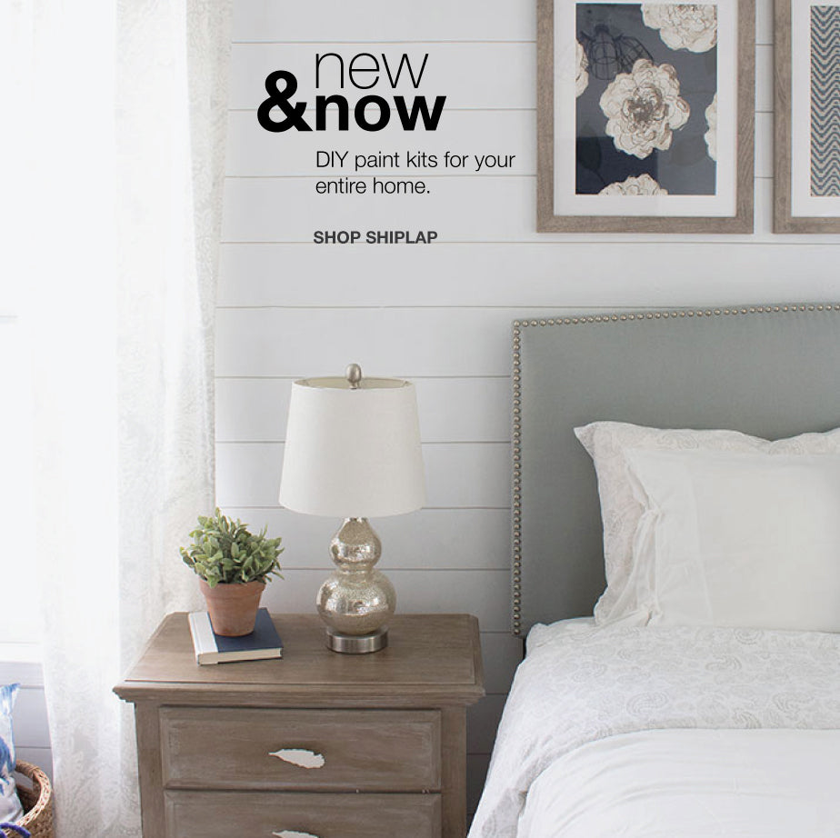 Bedroom Painted with Giani Shiplap Wall Paint Kit