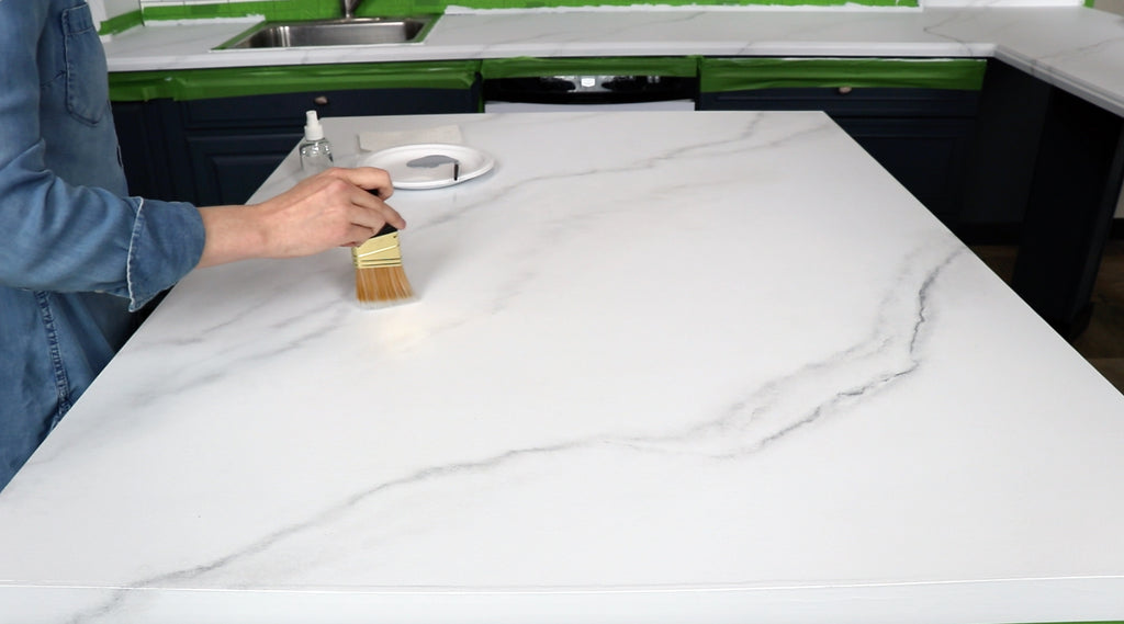 How to paint your laminate to look like marble! (for under $100)