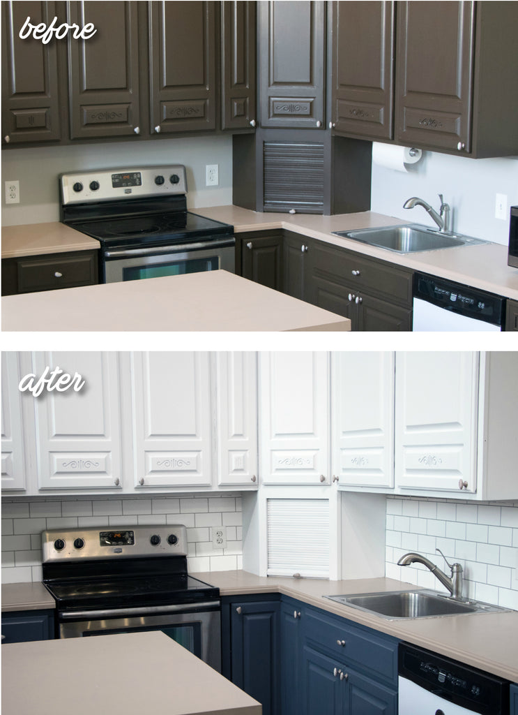 Image of: Giani Kitchen Makeover Series Painted Subway Tile Backsplash Giani Inc