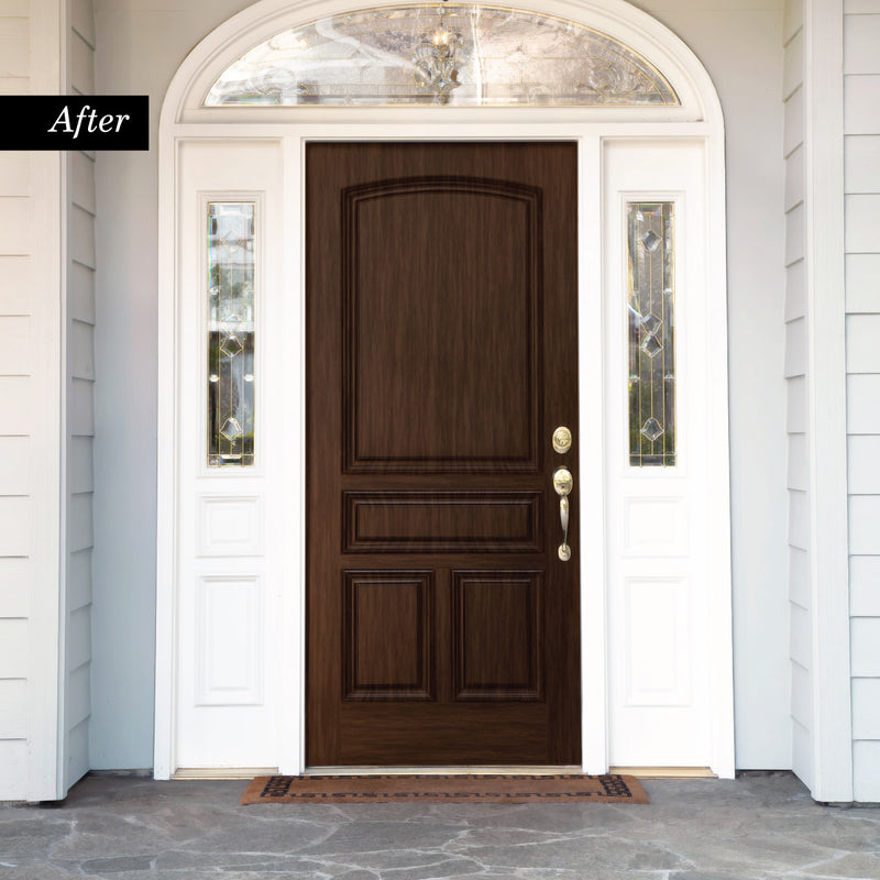 Giani Black Walnut Wood Look Kit for Front Doors