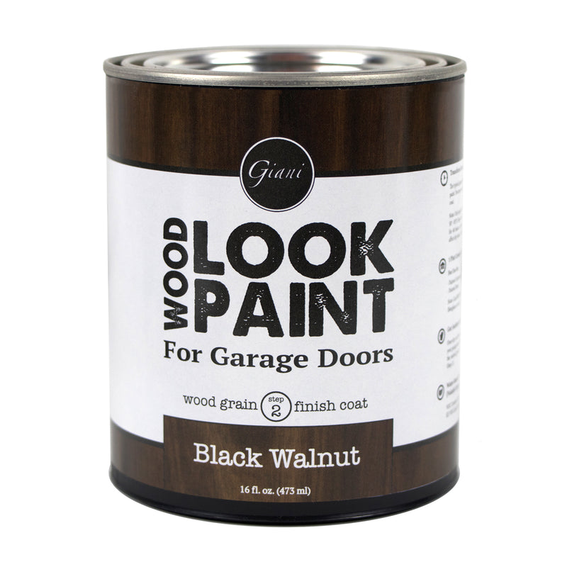 Giani Black Walnut Wood Look Grain Finish Coat for Garage Doors