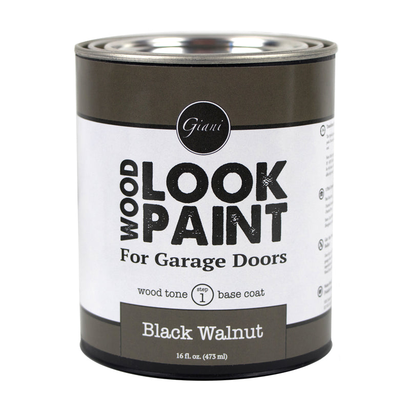 Giani Black Walnut Wood Look Tone Base Coat for Garage Doors