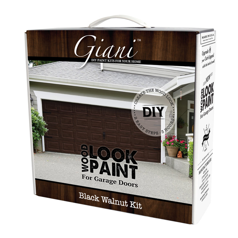 Giani Black Walnut Wood Look Carriage-Style Kit for Garage Doors