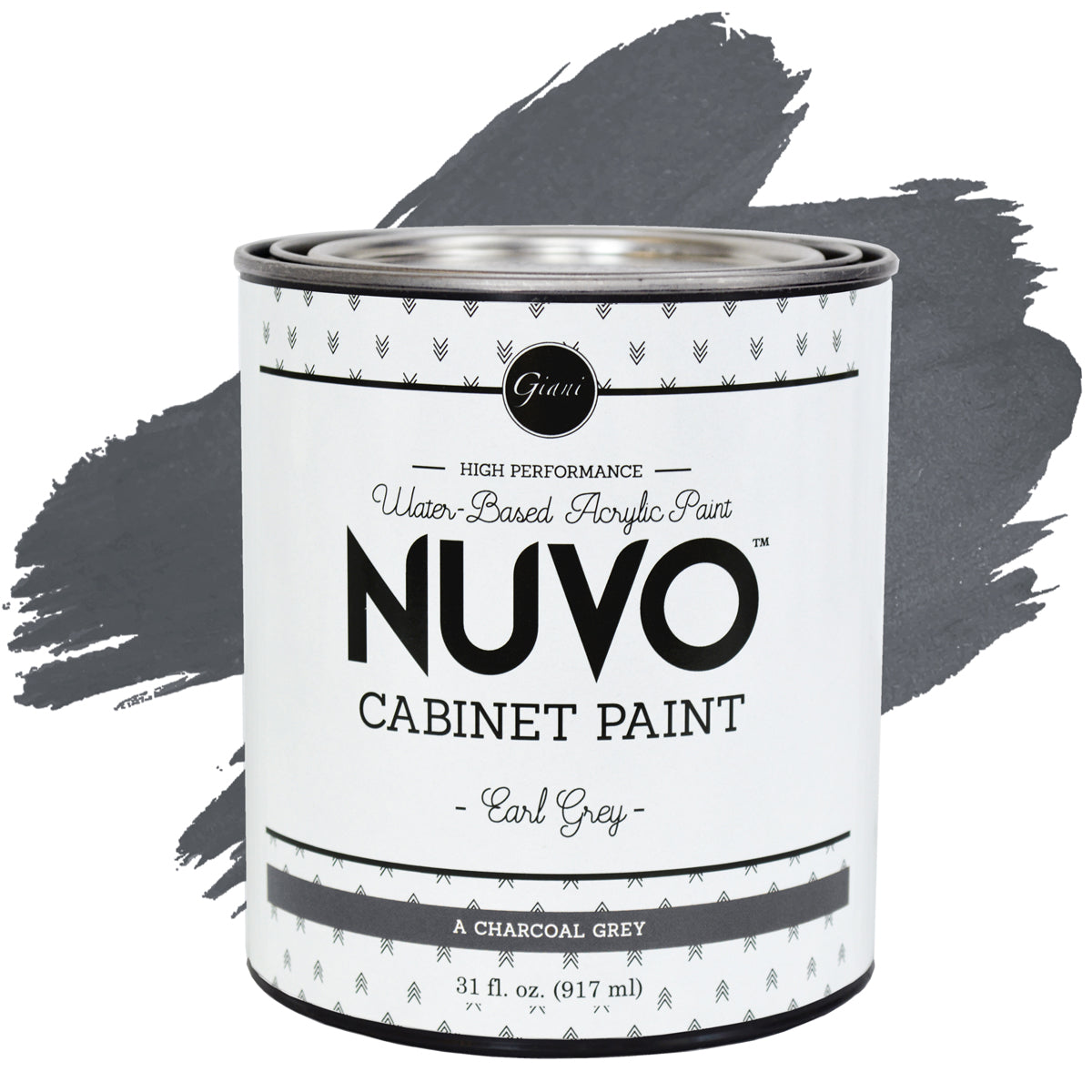 Nuvo earl grey cabinet paint giani inc for Grey cabinet paint