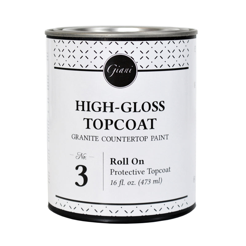 High-Gloss Topcoat for Giani Countertop Paint Kits Step 3