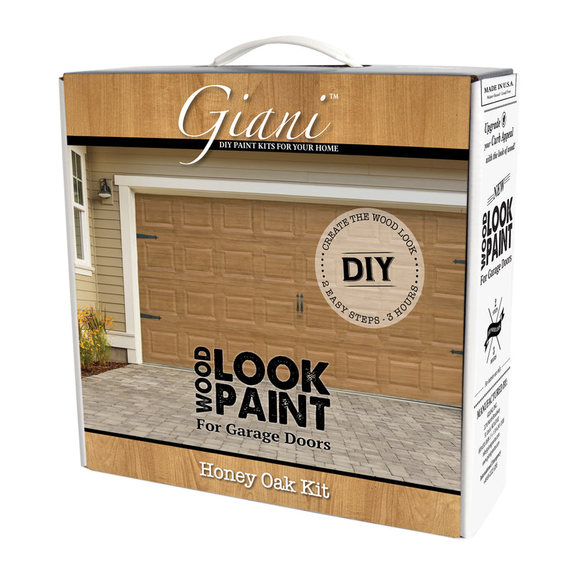 Giani Honey Oak Wood Look Carriage-Style Kit for Garage Doors