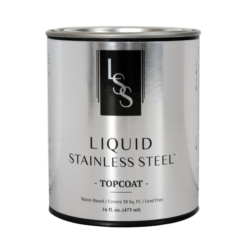 Liquid Stainless Steel High-Gloss Top Coat 16oz.