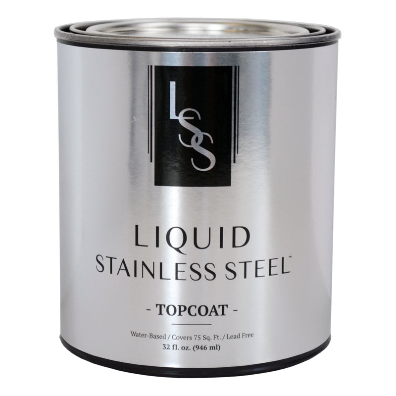 Liquid Stainless Steel High-Gloss Top Coat 32oz.