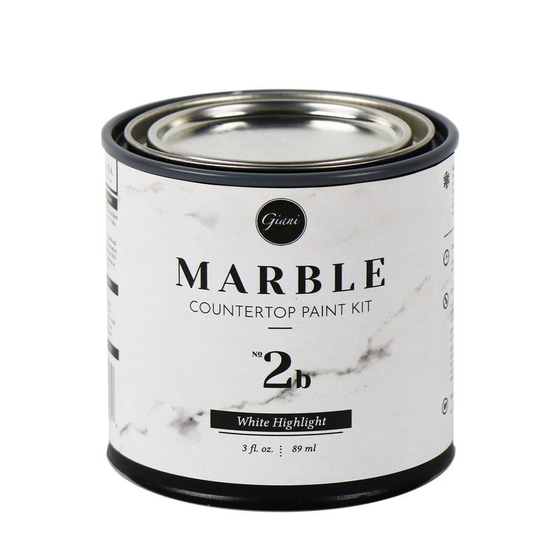 White Highlight Mineral For Giani Marble Countertop Paint (Step 2b)