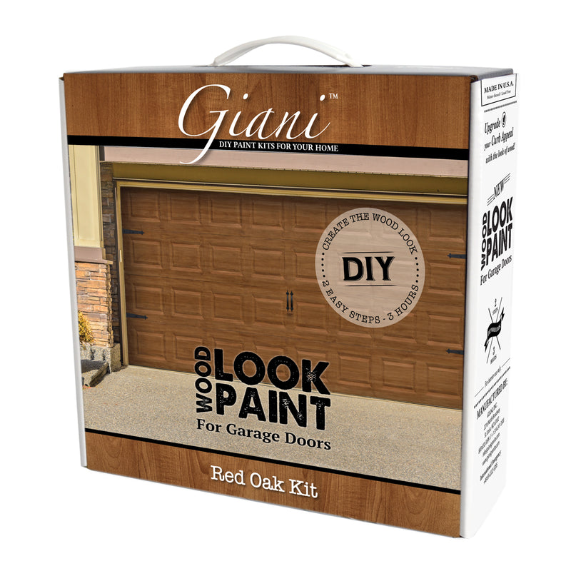 Giani Red Oak Wood Look Carriage-Style Kit for Garage Doors