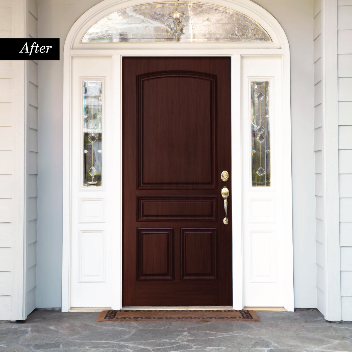 Giani Royal Mahogany Wood Look Kit For Front Doors Giani Inc