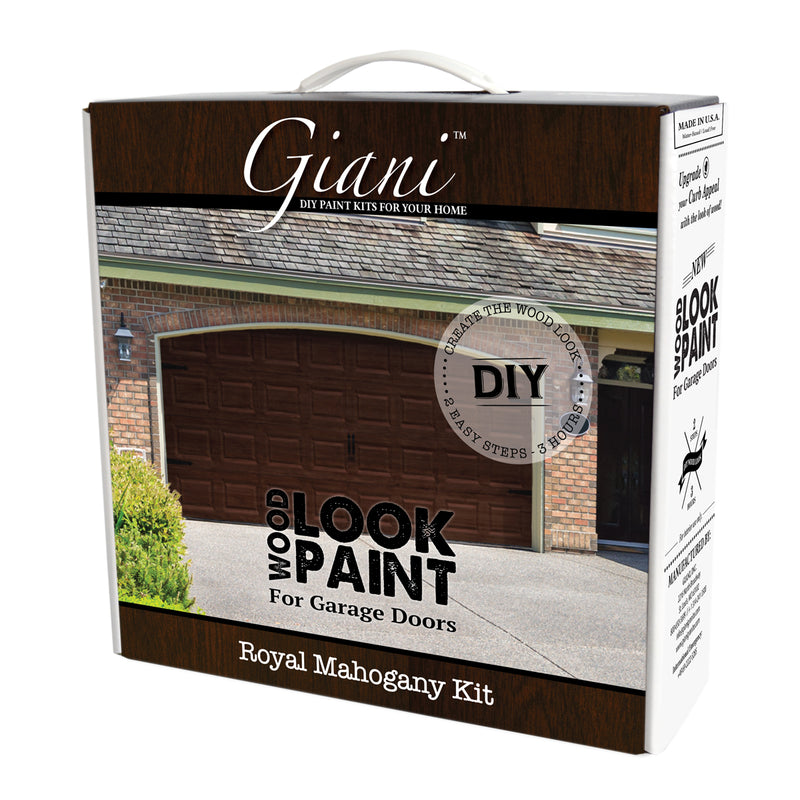 Giani Royal Mahogany Wood Look Carriage-Style Kit for Garage Doors