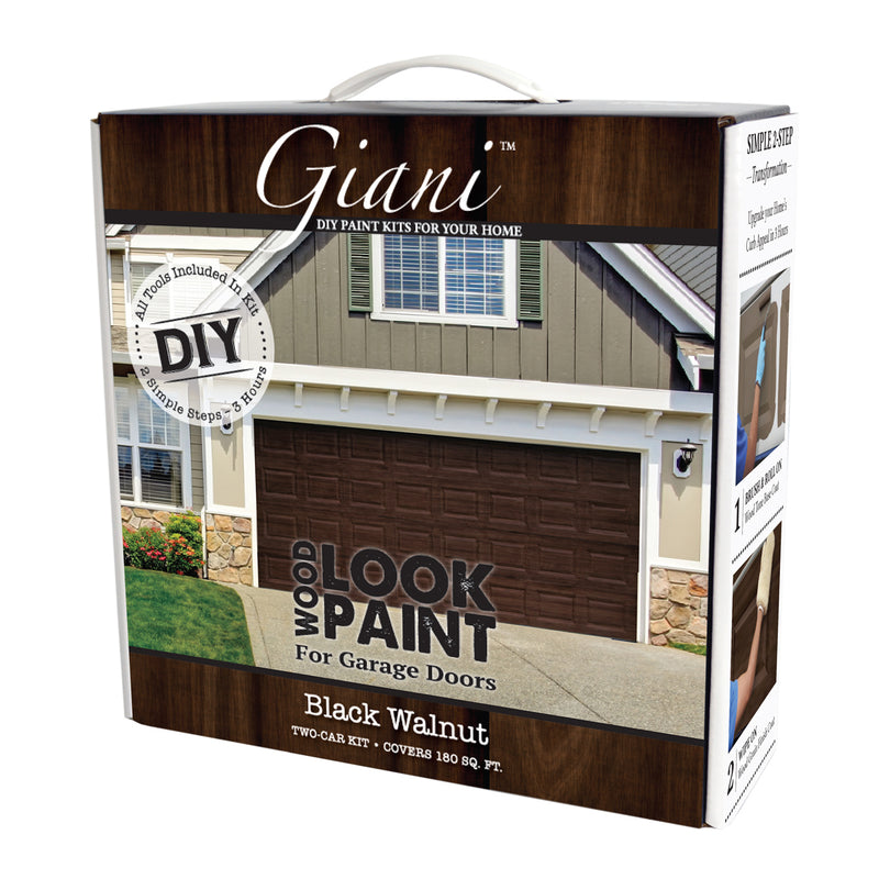 Giani Black Walnut Wood Look Kit for Garage Doors