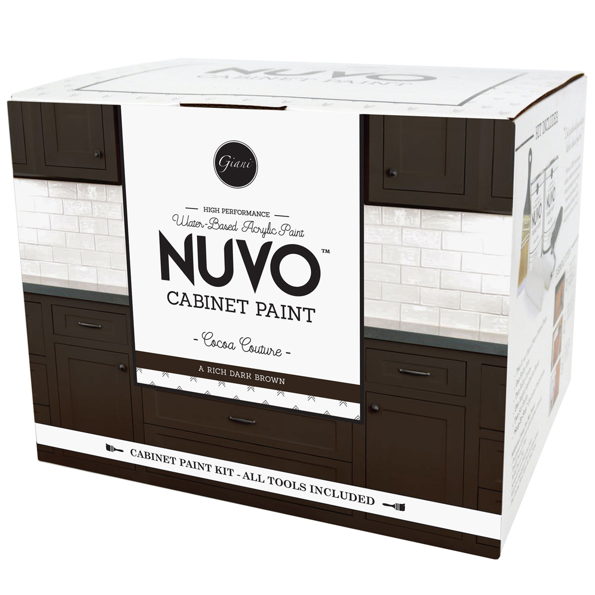 Nuvo Cocoa Couture Cabinet Paint Kit – Giani Inc.