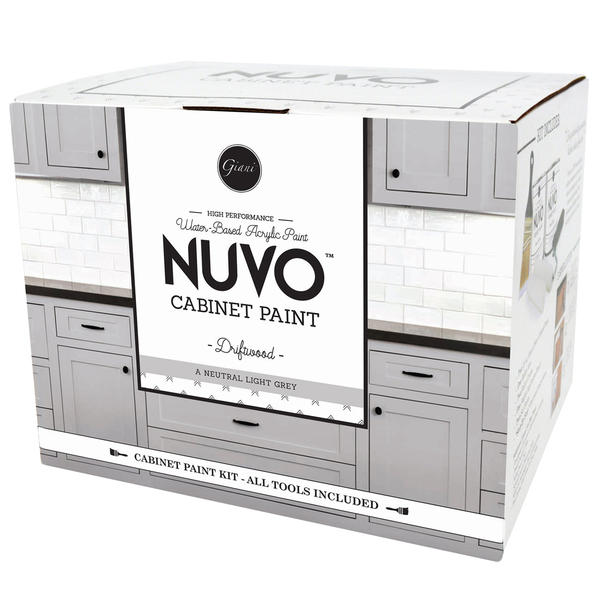 Nuvo Driftwood Cabinet Paint Kit – Giani Inc.