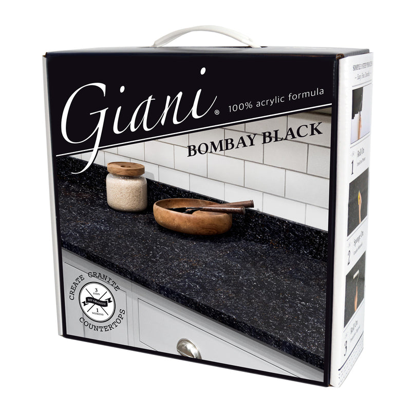 Giani Granite 2.0 - Bombay Black Countertop Kit
