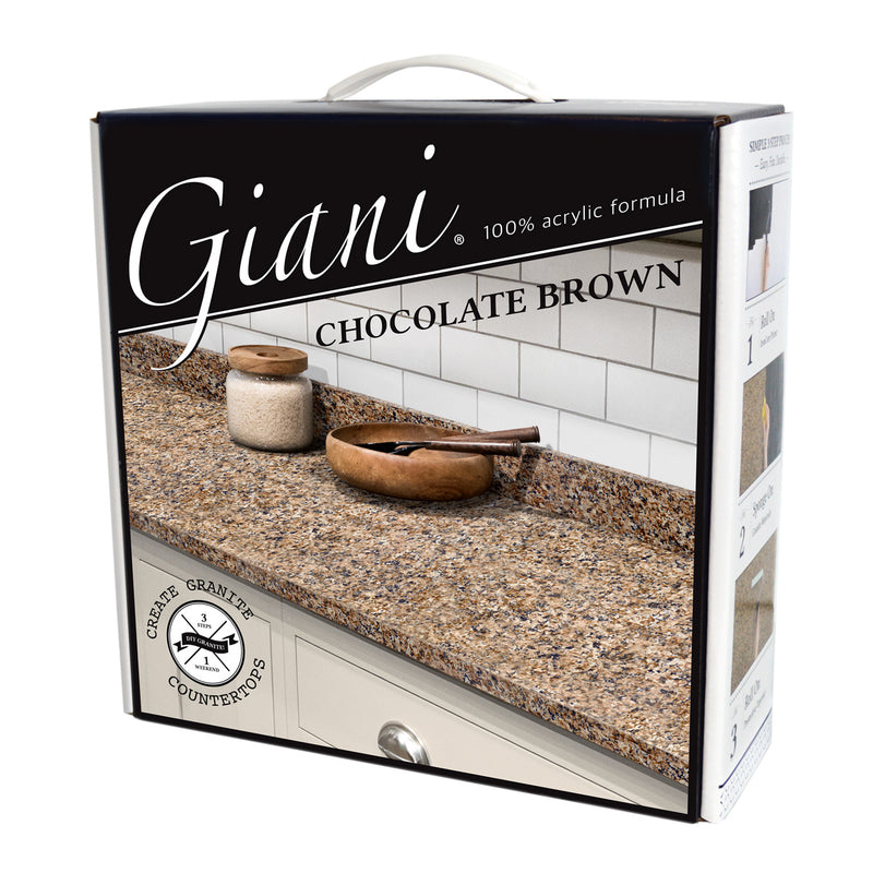 Giani Granite 2.0 - Chocolate Brown Countertop Kit