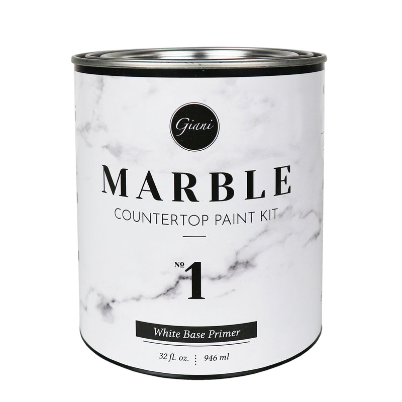 White Base Primer for Giani Marble Countertop Paint (Step 1)