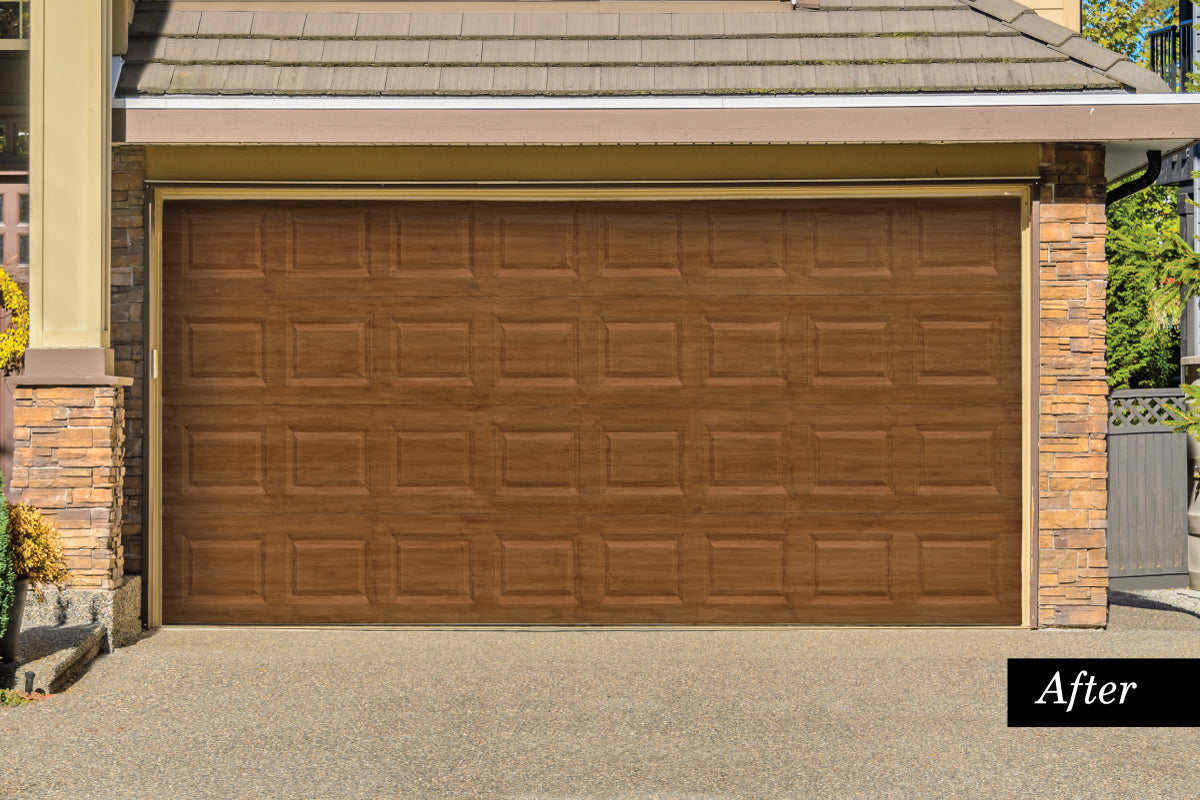 faux youtube wood door doors showcase garage painting paint watch